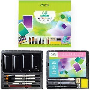 Pagos Watercolor Gift Set 36 Color All In One Kit